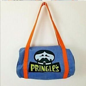 Vtg 70s 80s Pringle's duffle bag p&g